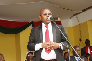 Nyandarua County Assembly Speaker Hon. Ndegwa Wahome makes his address during the Launch